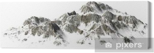 Snowy Mountains - Mountain Peak - separated on white background Canvas Print - Landscapes