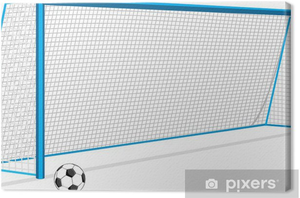 Soccer ball and gate and isolated on the white Canvas Print - Matches and Competitions