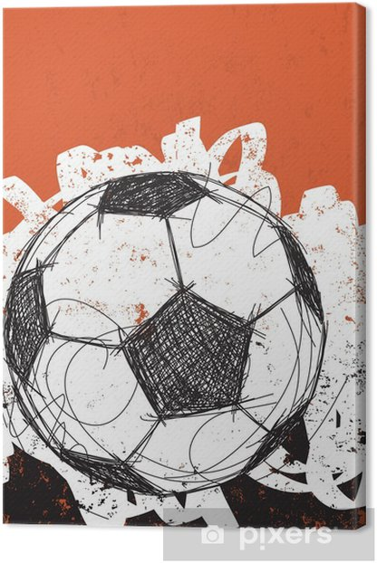 Soccer ball background Canvas Print - Sports