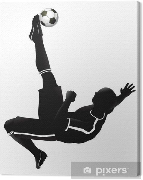 Soccer football player illustration Canvas Print - Destinations