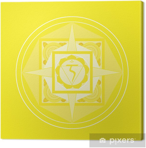 Solarplexus-Chakra Mandala Canvas Print - Criteo