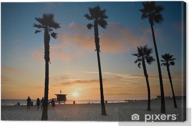 Sonnenuntergang an Venice Beach, Los Angeles Canvas Print - Themes