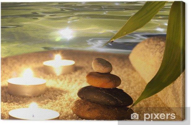 Spa concept in night Canvas Print -