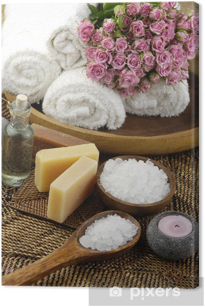 Spa set Canvas Print - Lifestyle>Body Care and Beauty