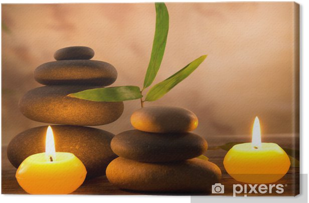 Spa still life with aromatic candles Canvas Print - Styles