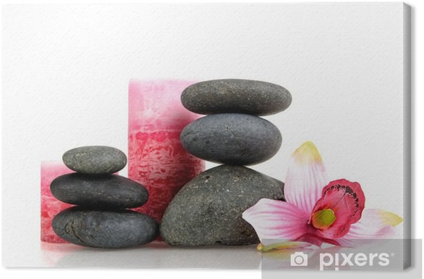 Spa stones Canvas Print - Lifestyle>Body Care and Beauty