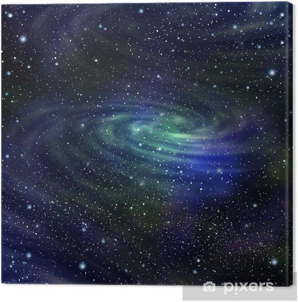 Space galaxy image,illustration Canvas Print - Universe