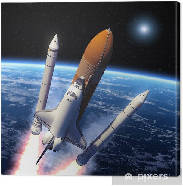 Space Shuttle Solid Rocket Boosters Separation Canvas Print - Themes