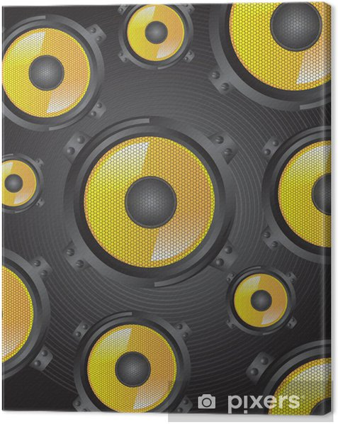 Speakers Canvas Print - Electronic