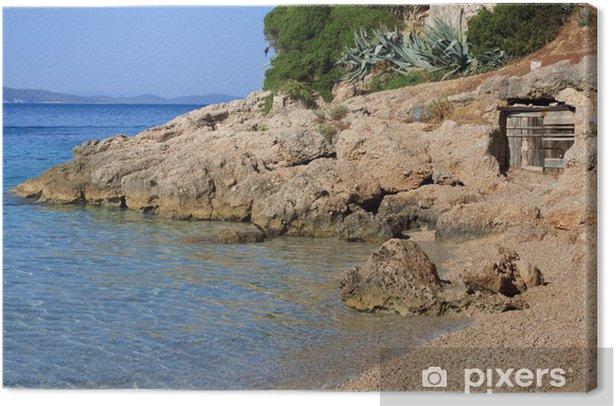 spiaggia di Murvica - Bol, isola di Brac (Croazia) Canvas Print - Themes