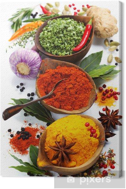 Spices and herbs Canvas Print - iStaging