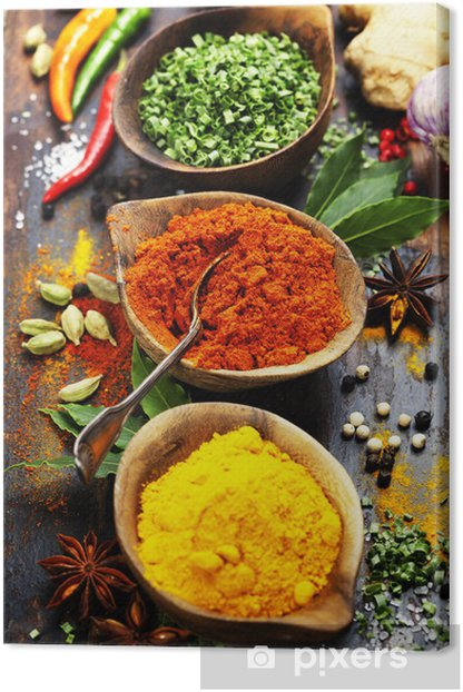 Spices and herbs Canvas Print - Culinary