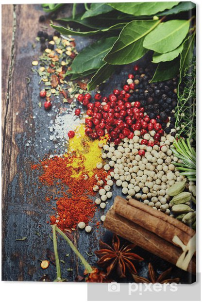 Spices and herbs Canvas Print - Spices