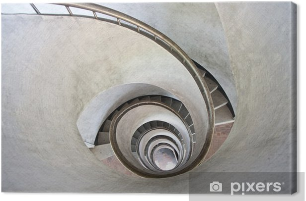 spiral stairs Canvas Print - Themes