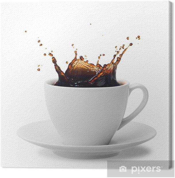 splashing coffee Canvas Print - Wall decals