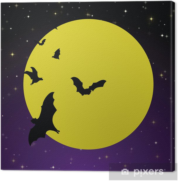 Spooky Moon Background Canvas Print - International Celebrations