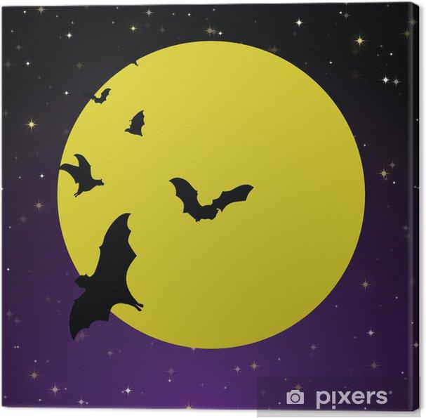 Spooky Moon Background Canvas Print - International Celebrations