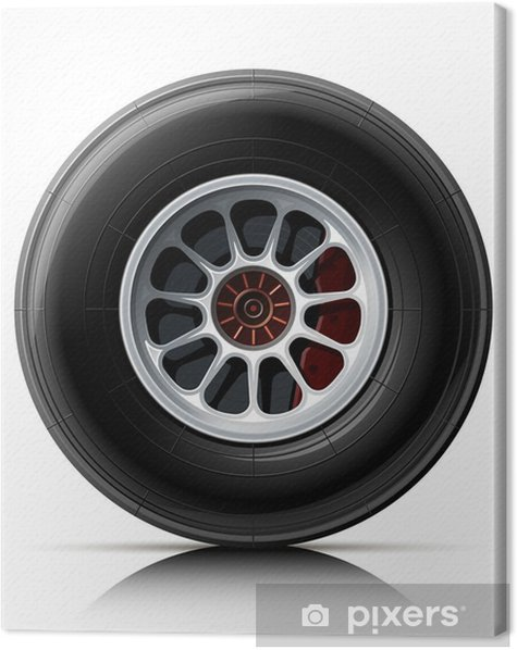 sports car wheel Canvas Print - On the Road