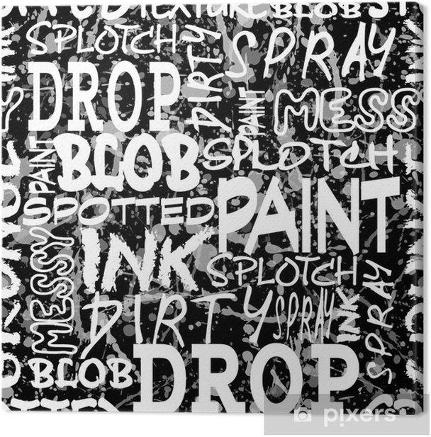 spray seamless black Canvas Print - Art and Creation