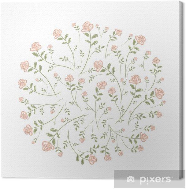 Spring floral frame for your design Canvas Print - Seasons