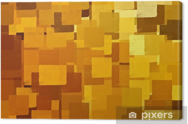 Square shapes brown and yellow. Abstract illustration. Canvas Print - Hobbies and Leisure