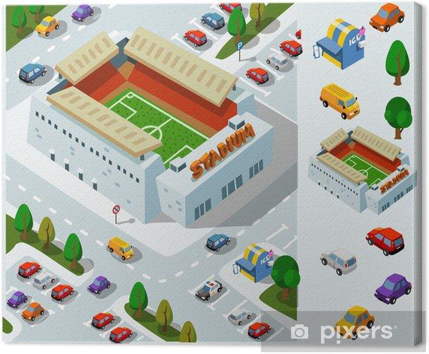 Stadium of Soccer Isometric Vector Canvas Print - Ecology