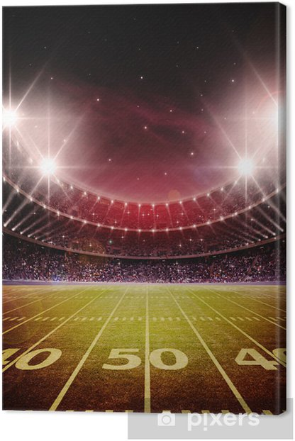 stadium Canvas Print - American football