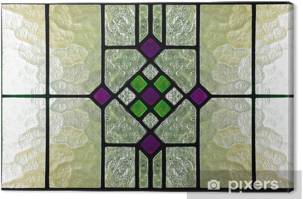 stained glass window Canvas Print - Textures