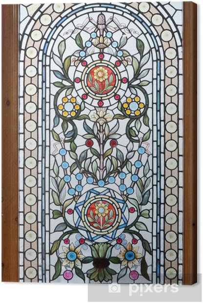 stained lead window Canvas Print - Art and Creation