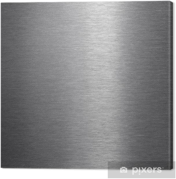 Stainless steel with brushed surface Canvas Print -