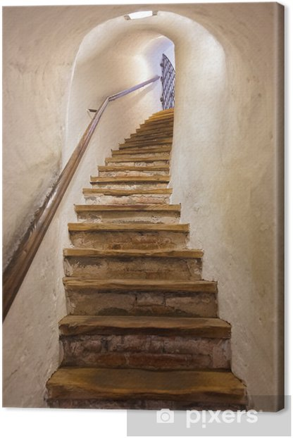 Stairs in Castle Kufstein - Austria Canvas Print - Styles
