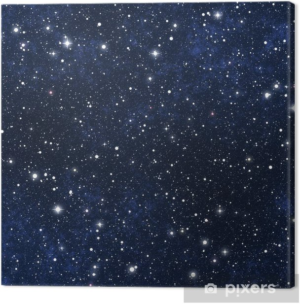 star filled night sky Canvas Print - Universe
