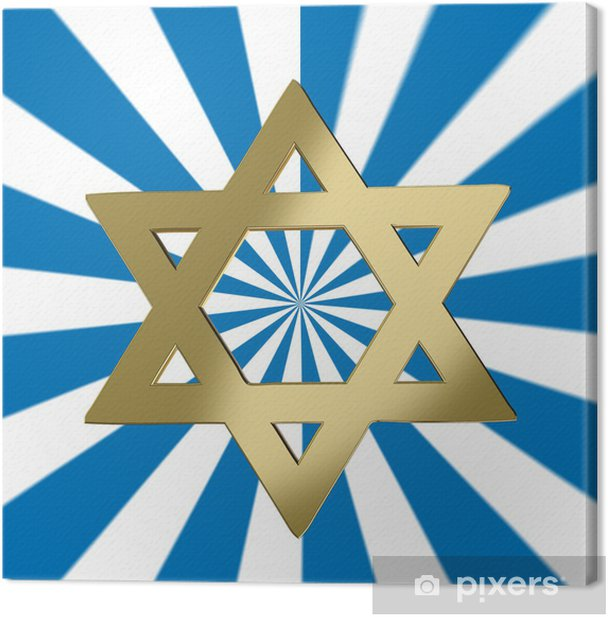 Star of David with a starburst background Canvas Print - Religion