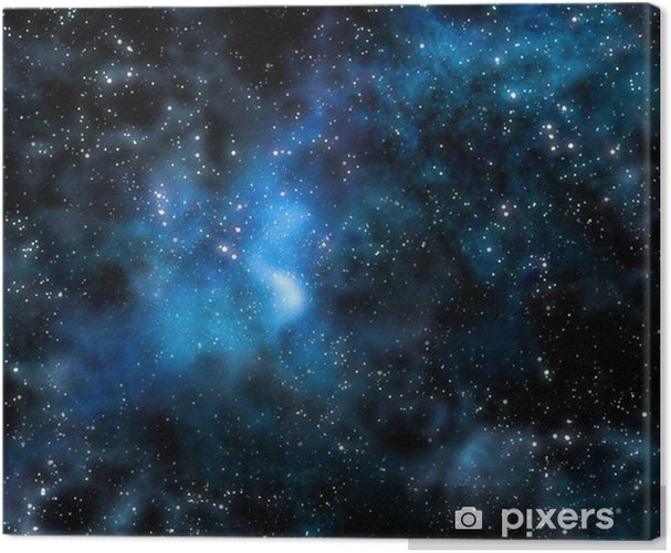 starry deep outer space nebula and galaxy Canvas Print - Styles