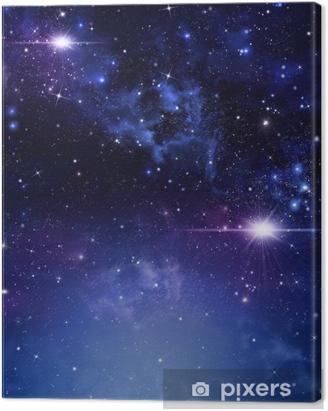 starry night sky deep outer space Canvas Print