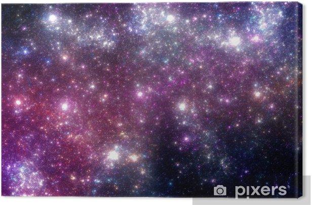Stars background. Purple galaxy. Canvas Print - Universe