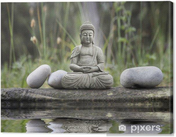 Statue Bouddha Canvas Print - Styles