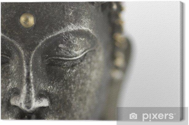 statue de bouddha sur fond blanc Canvas Print - Themes
