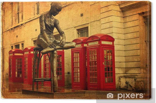 Statue Of A Dancer In Covent Garden London Canvas Print