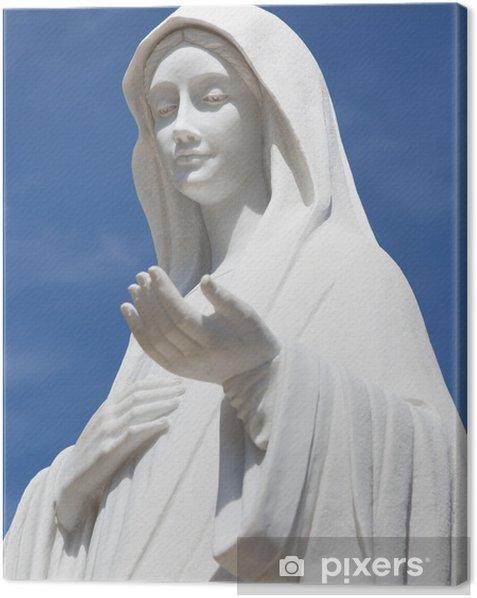 Statue of Virgin Mary, Medjugorje Canvas Print - Religion