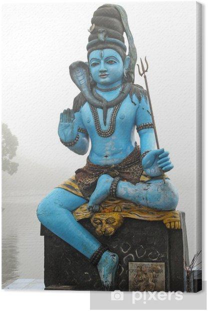 statue Shiva Canvas Print - Religion