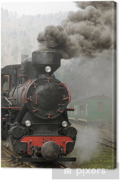 steam engine train Canvas Print - Themes