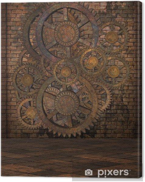 Steampunk Background Canvas Print - Steampunk