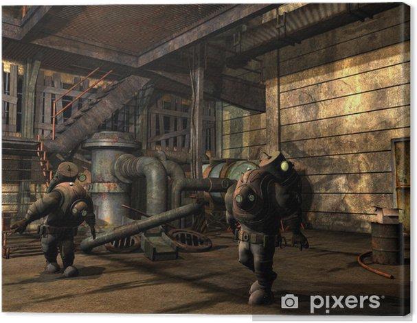 Steampunk Männer im Schutzanzug Canvas Print - Steampunk