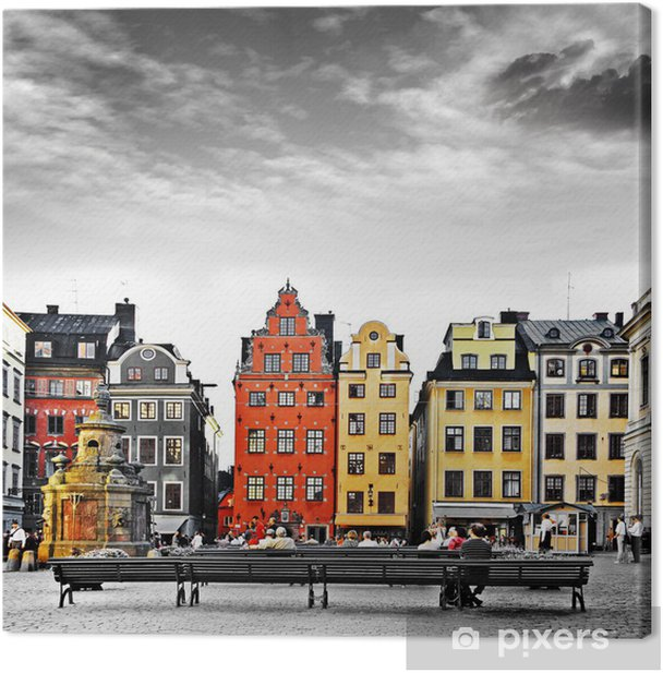 Stockholm, heart of old town, Canvas Print -