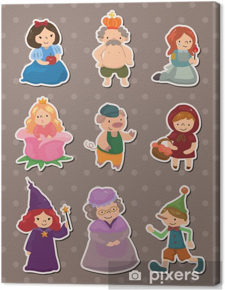 Story People Stickers Canvas Print