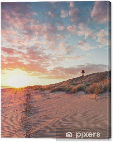 Strand und Dünenlandschaft am Sylter Ellenbogen Canvas Print - Water
