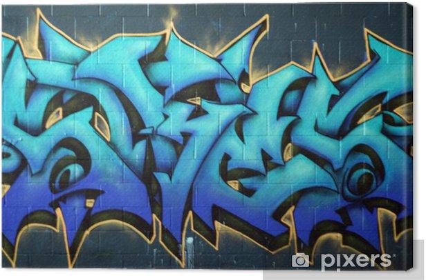 Street Graffiti Spraypaint Canvas Print - Themes