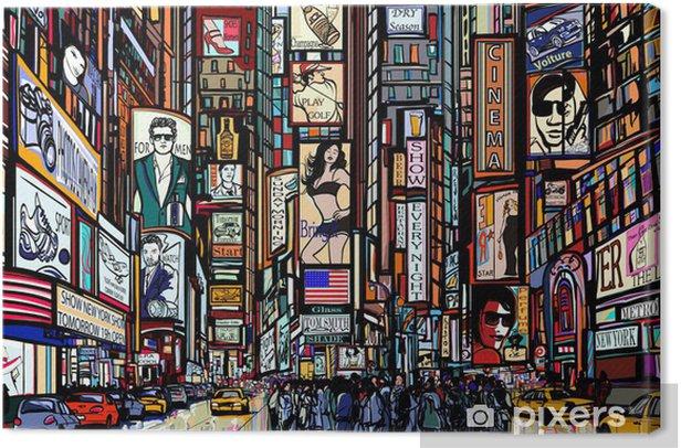 street in New York city Canvas Print - Art & lifestyle
