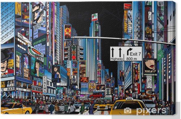 street in New York city Canvas Print -